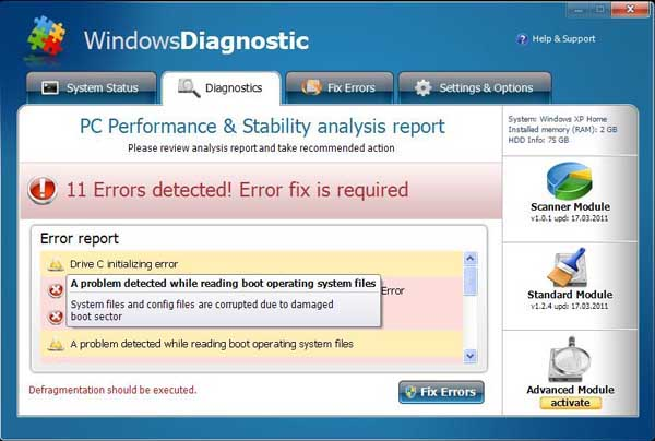 Windows Diagnostic Program