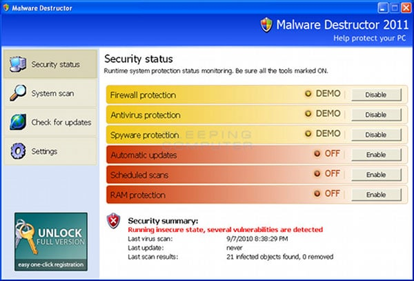 Malware and Virus Destructor